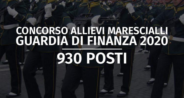 Guardia di Finanza 2020: uscito il Concorso per 930 Allievi Marescialli